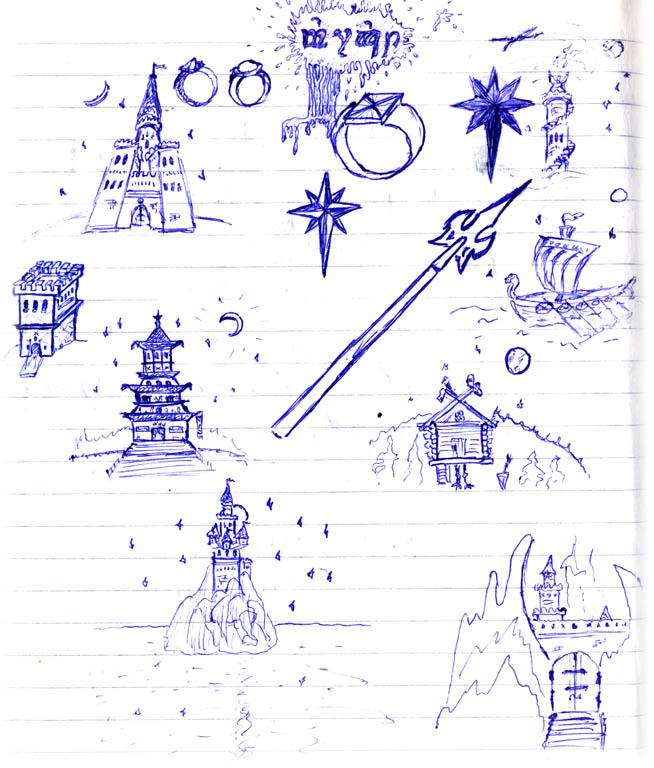 Рисовать рисунки в тетради